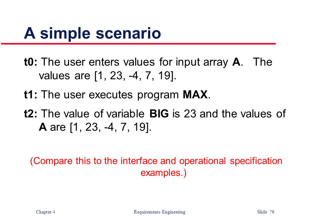 A simple scenario t0: The user enters values for input array A. The values are [1, 23, -4, 7, 19].